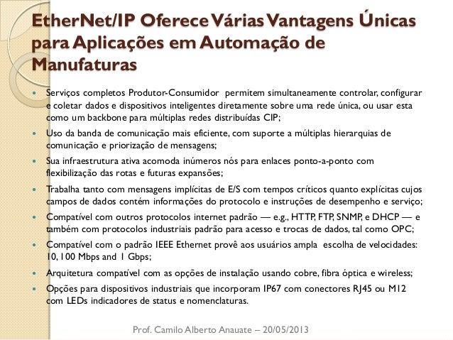 EtherNet/IP Oferece Várias Vantagens Únicas para Aplicações em Automação de Manufaturas  Serviços completos Produtor-Cons...