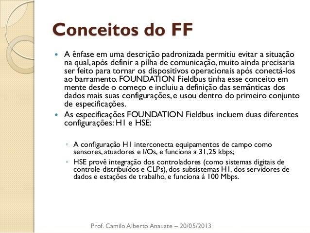 Conceitos do FF  A ênfase em uma descrição padronizada permitiu evitar a situação na qual, após definir a pilha de comuni...
