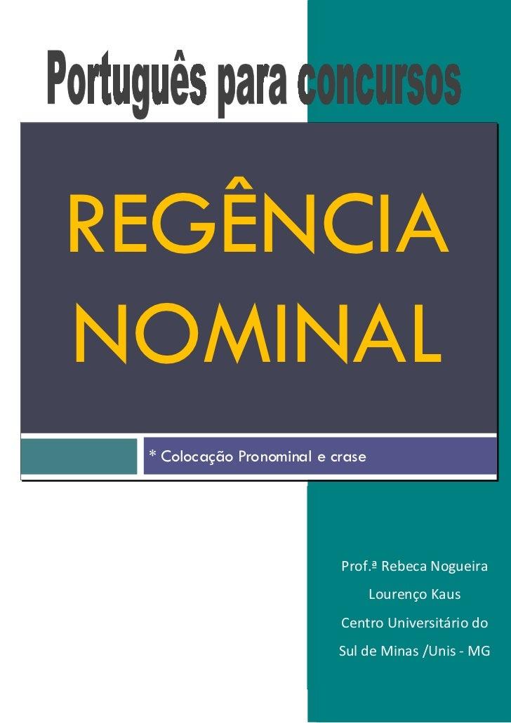 Apostila regencia nominal