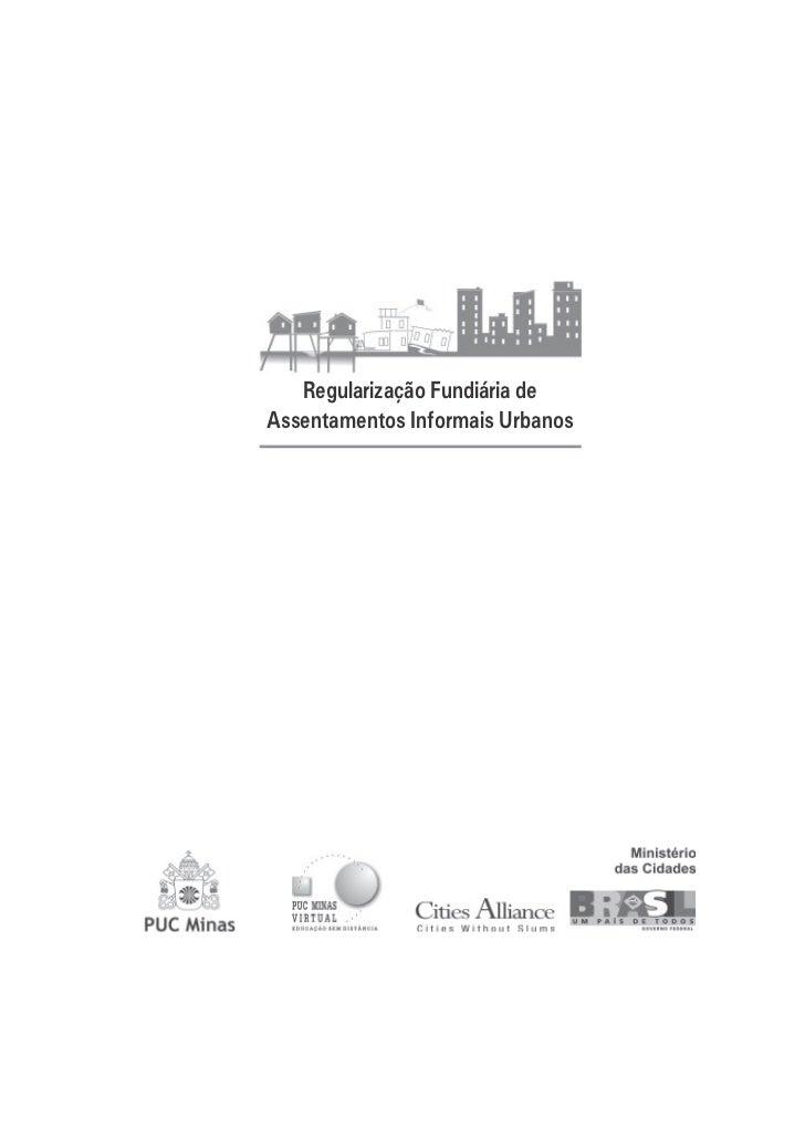 Regularização Fundiária deAssentamentos Informais Urbanos