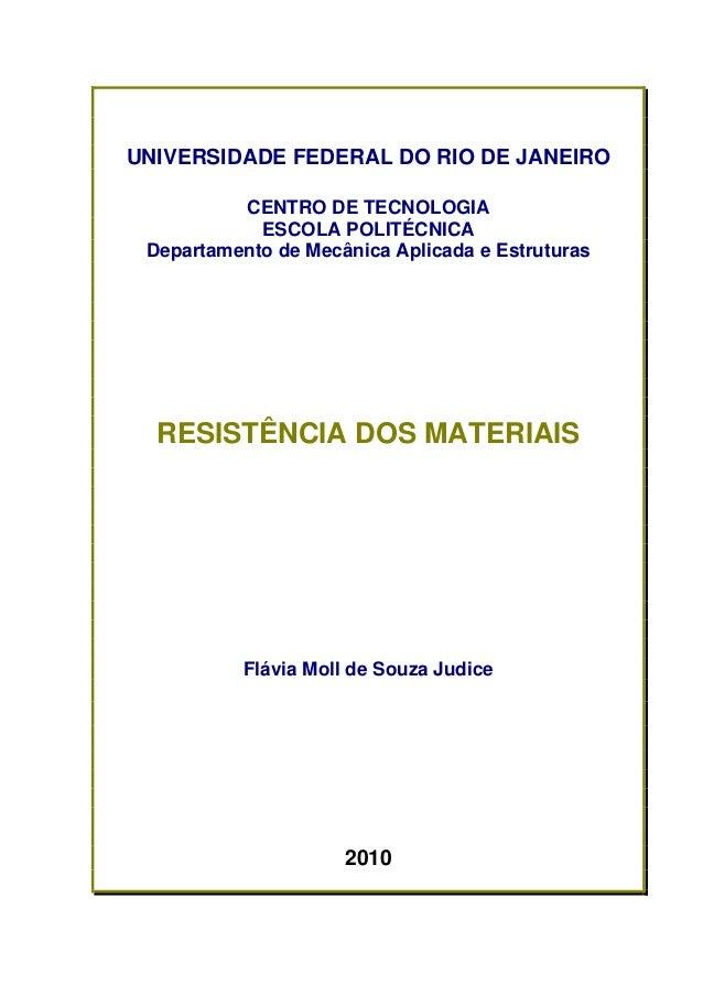 UNIVERSIDADE FEDERAL DO RIO DE JANEIRO          CENTRO DE TECNOLOGIA            ESCOLA POLITÉCNICA Departamento de Mecânic...