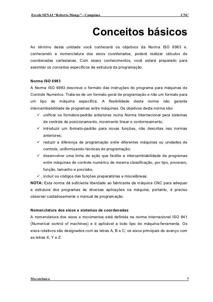 "Escola SENAI ""Roberto Mange"" - Campinas                                                 CNC                               ..."