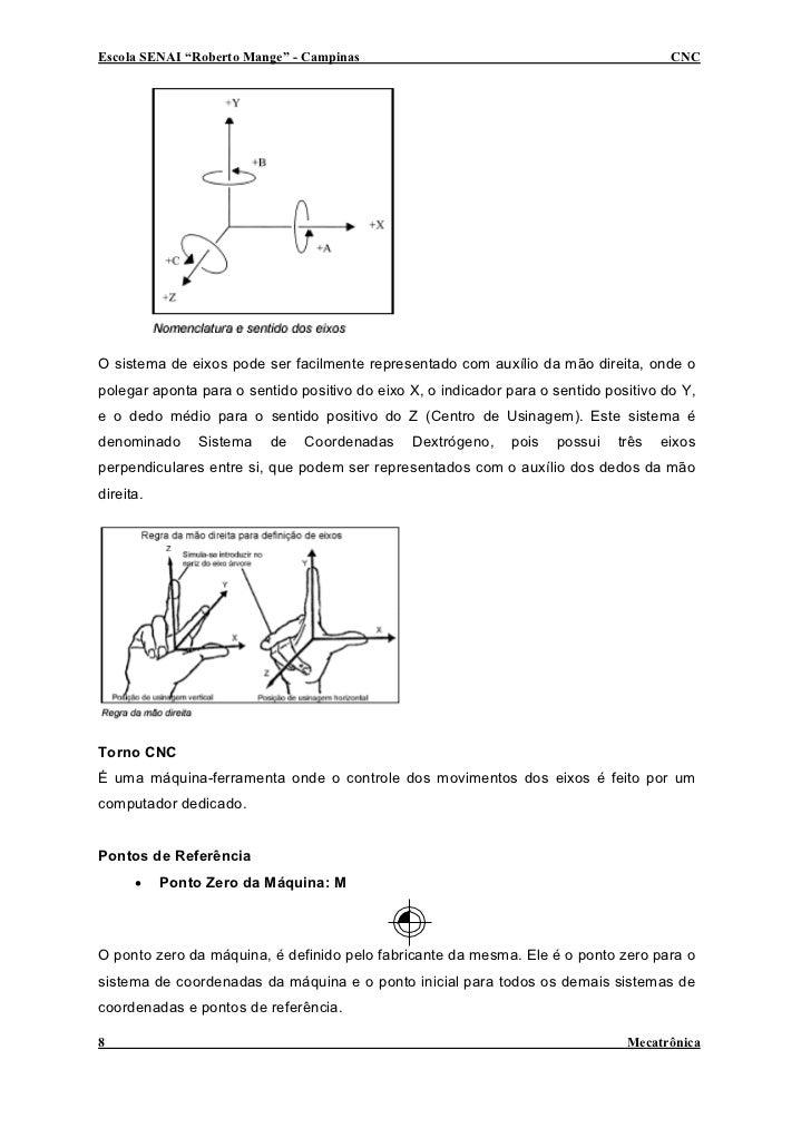 "Escola SENAI ""Roberto Mange"" - Campinas                                                CNC     O sistema de eixos pode ser..."