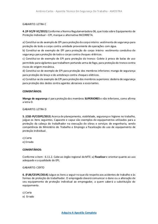 19. Antônio Carlos - Apostila Técnico Em Segurança Do Trabalho ... 8b9c7e7f97