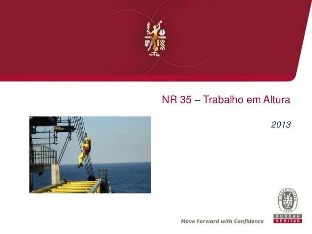 NR 35 – Trabalho em Altura 2013