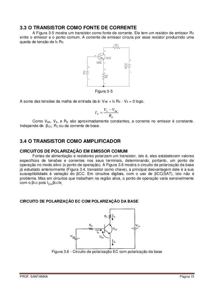 APOSTILA DE TRANSISTOR, POLARIZAÇÃO f85e46463c
