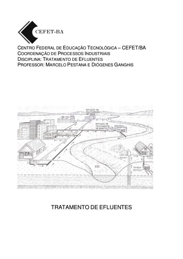 CENTRO FEDERAL DE EDUCAÇÃO TECNOLÓGICA – CEFET/BA COORDENAÇÃO DE PROCESSOS INDUSTRIAIS DISCIPLINA: TRATAMENTO DE EFLUENTES...