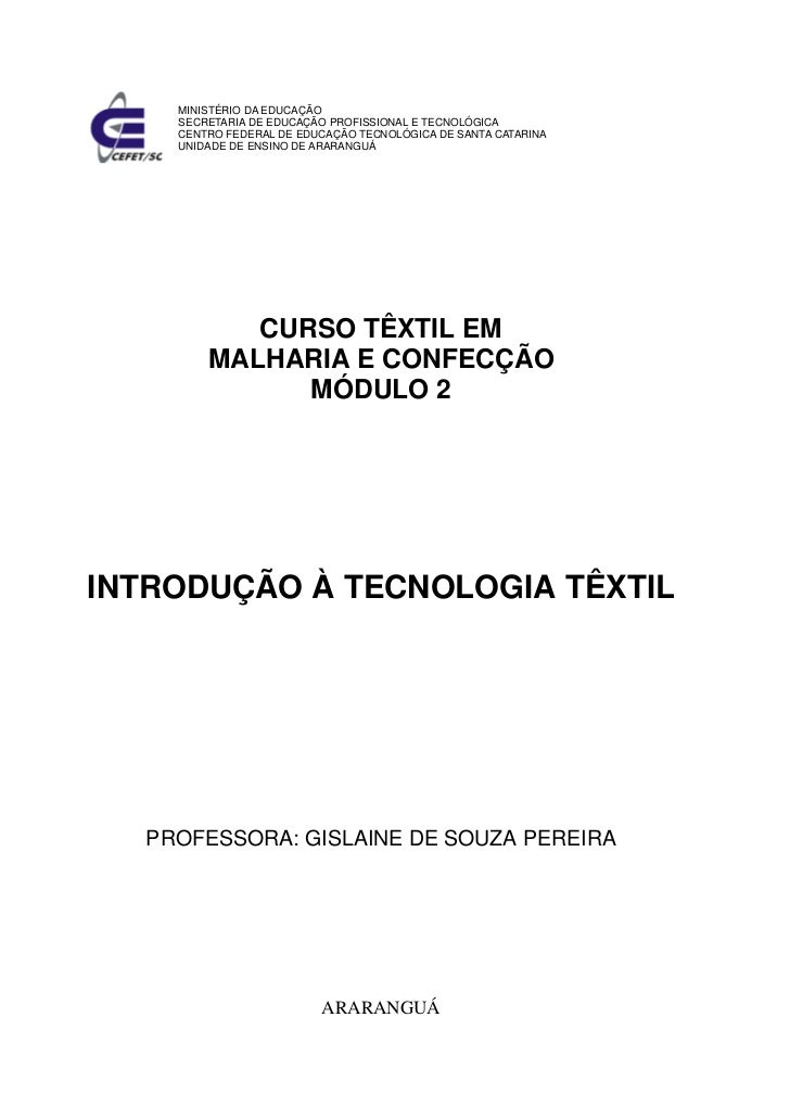 MINISTÉRIO DA EDUCAÇÃO    SECRETARIA DE EDUCAÇÃO PROFISSIONAL E TECNOLÓGICA    CENTRO FEDERAL DE EDUCAÇÃO TECNOLÓGICA DE S...