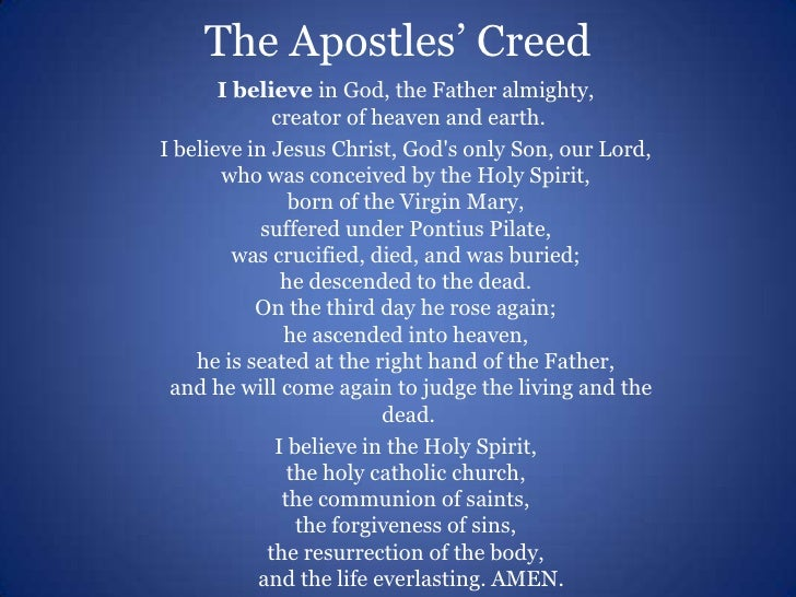what is a personal creed