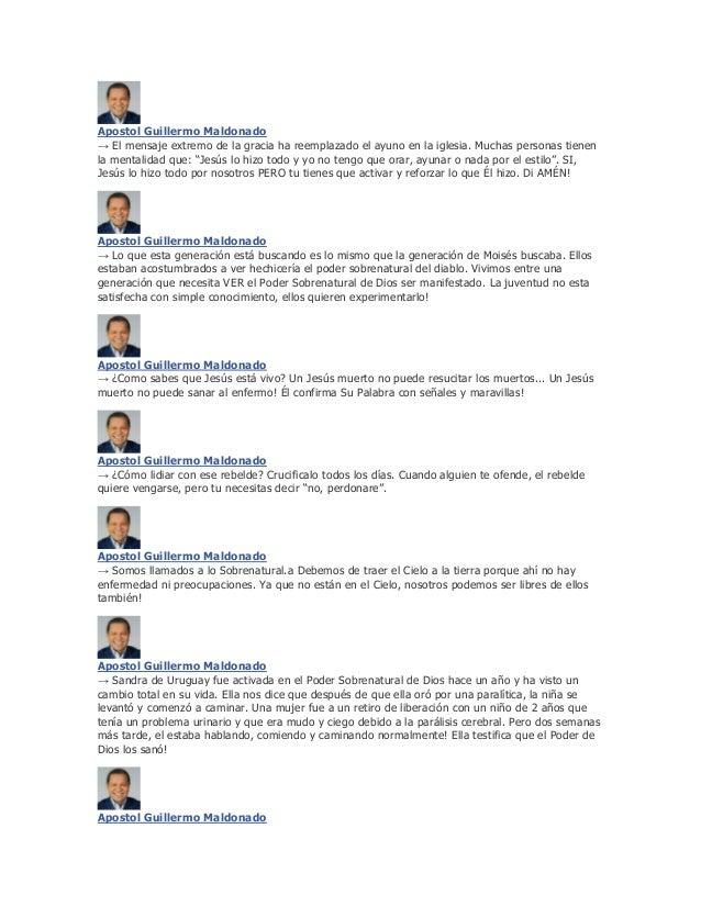 Apostol Guillermo Maldonado→ El mensaje extremo de la gracia ha reemplazado el ayuno en la iglesia. Muchas personas tienen...