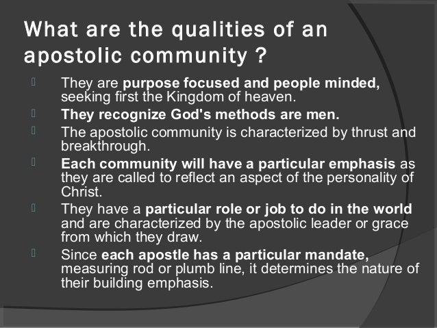 Apostolic community living