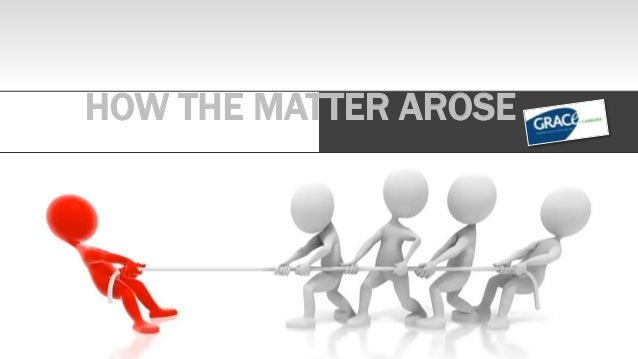 HOW THE MATTER AROSE