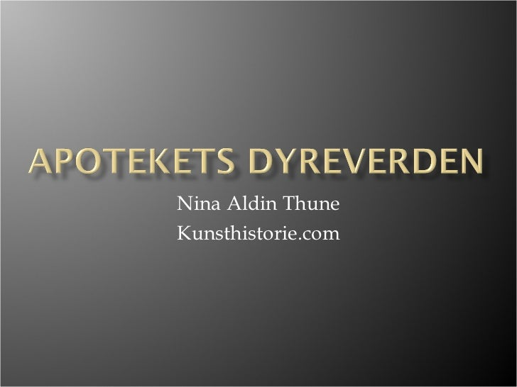 Nina Aldin Thune Kunsthistorie.com