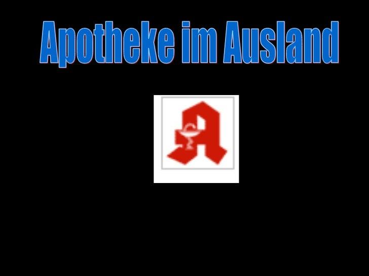 Apotheken im Ausland Apotheke im Ausland