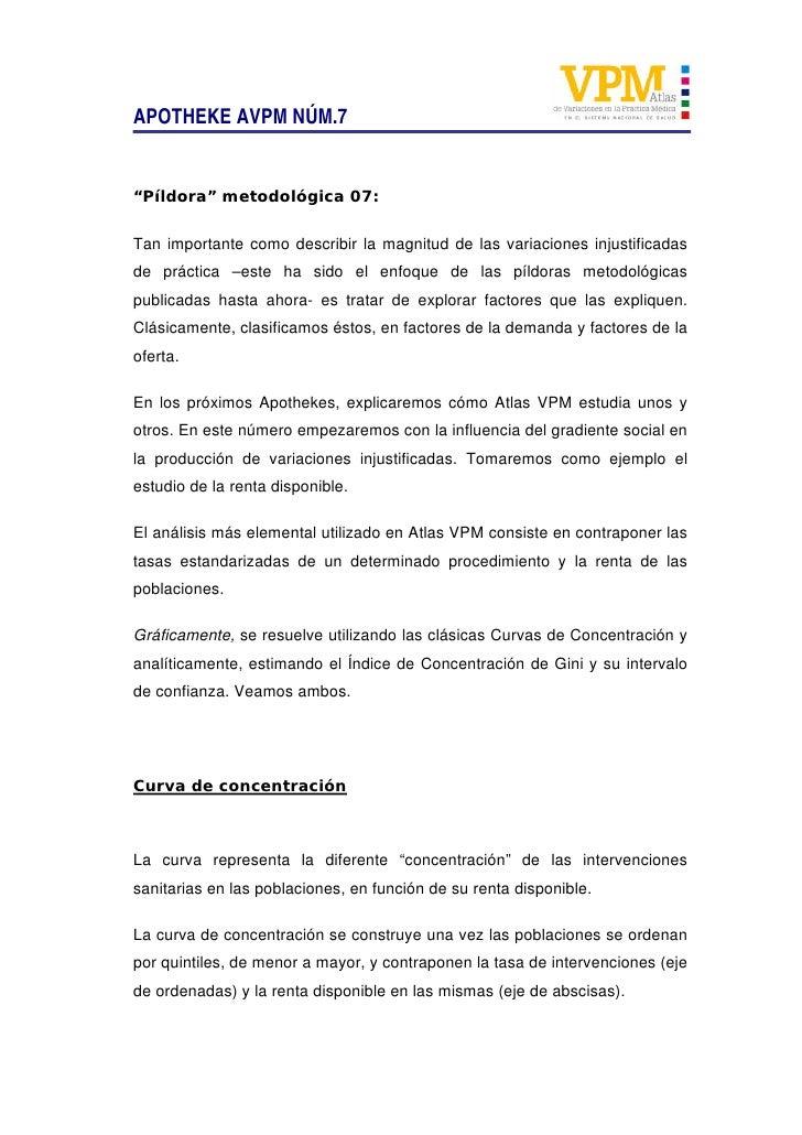 """APOTHEKE AVPM NÚM.7   """"Píldora"""" metodológica 07:  Tan importante como describir la magnitud de las variaciones injustifica..."""