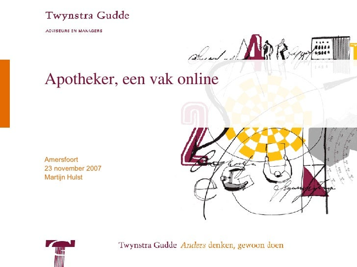 Apotheker, een vak online