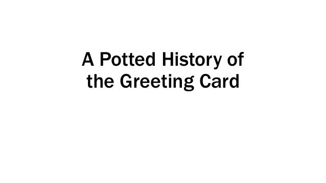 A Potted History of the Greeting Card