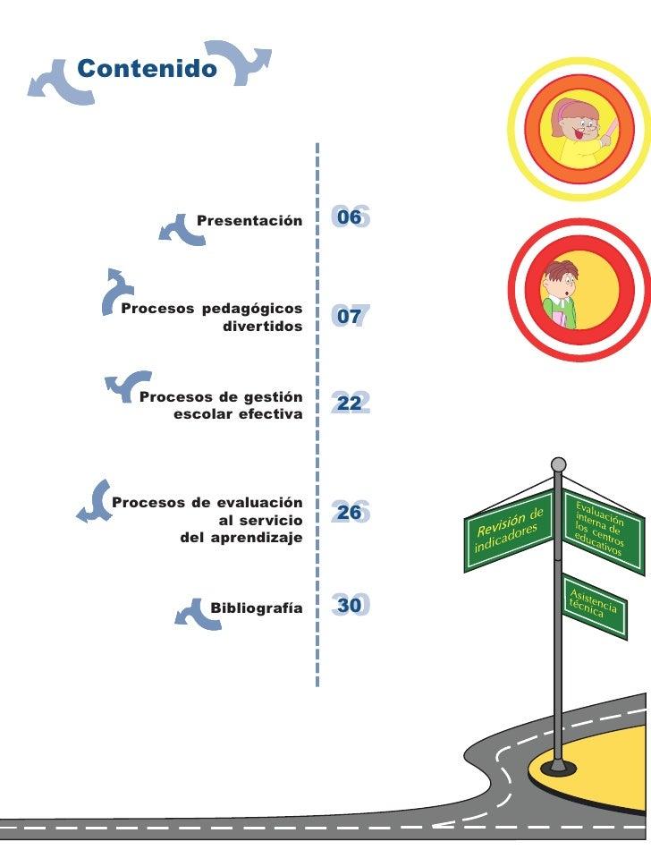 Contenido                 Presentación    06                             06       Procesos pedagógicos               diver...