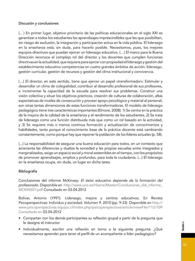 53 &'2*7,%= Discusión y conclusiones (... ) En primer lugar, objetivo prioritario de las políticas educacionales en el sig...
