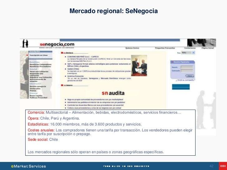 Mercado regional: SeNegociaComercia: Multisectorial – Alimentación, bebidas, electrodomésticos, servicios financieros…Óper...