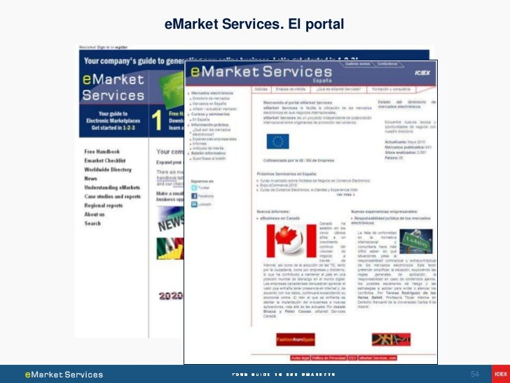 eMarket Services. El portal                              54