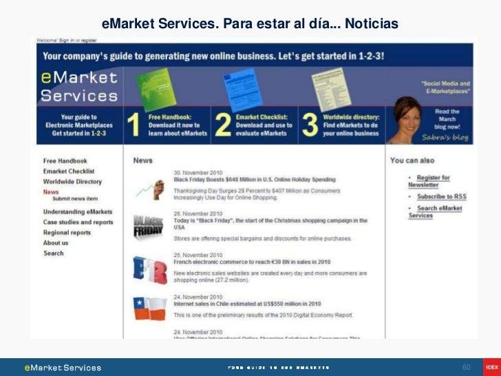 eMarket Services. Para estar al día... Noticias                                                  60