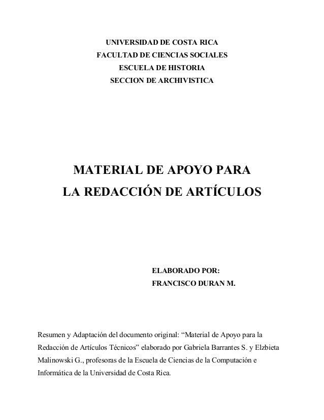 UNIVERSIDAD DE COSTA RICA                   FACULTAD DE CIENCIAS SOCIALES                          ESCUELA DE HISTORIA    ...