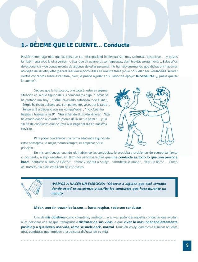 Conductas interior 1.FH11 Tue Nov 13 11:52:30 2007 Página 9 CO FDN 9 Posiblemente haya oído que las personas con discapaci...