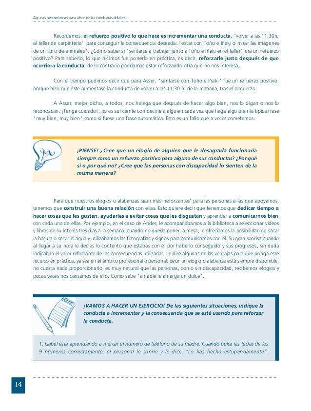Conductas interior 1.FH11 Tue Nov 13 11:52:30 2007 Página 14 14 Algunas herramientas para afrontar las conductas difíciles...