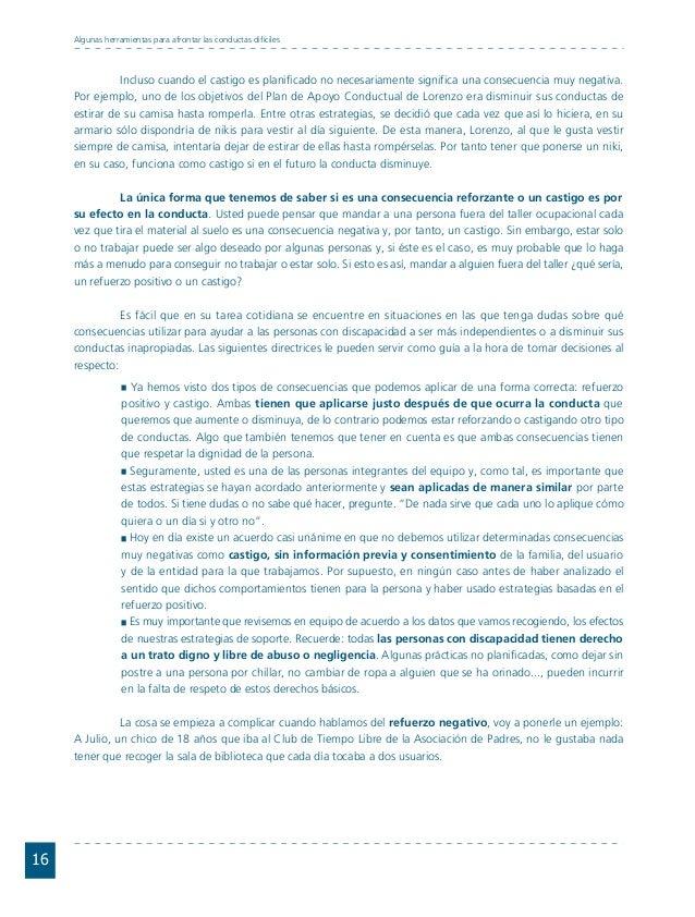 Conductas interior 1.FH11 Tue Nov 13 11:52:30 2007 Página 16 16 Algunas herramientas para afrontar las conductas difíciles...