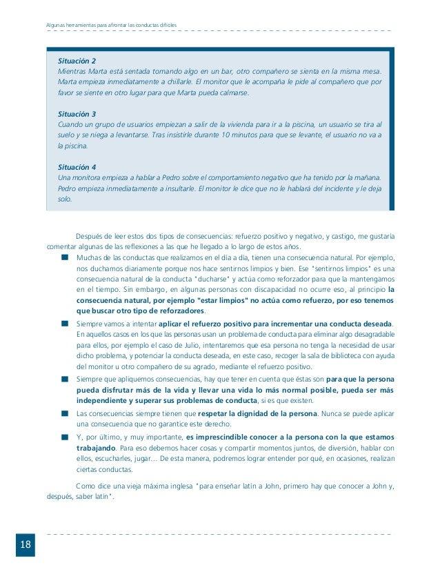 Conductas interior 1.FH11 Tue Nov 13 11:52:30 2007 Página 18 18 Algunas herramientas para afrontar las conductas difíciles...