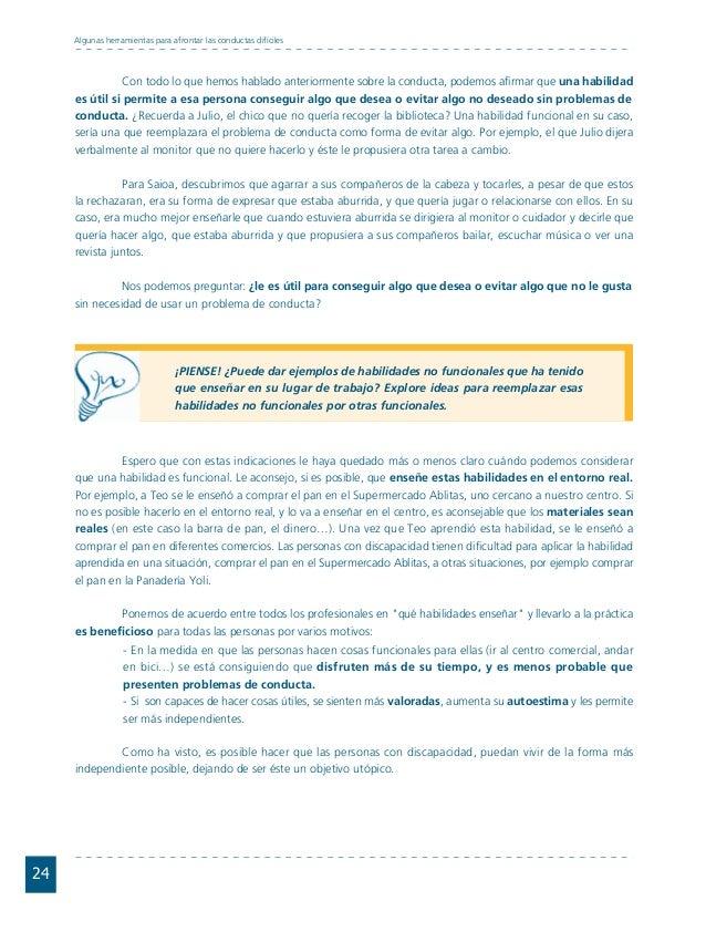 Conductas interior 1.FH11 Tue Nov 13 11:52:30 2007 Página 24 24 Algunas herramientas para afrontar las conductas difíciles...
