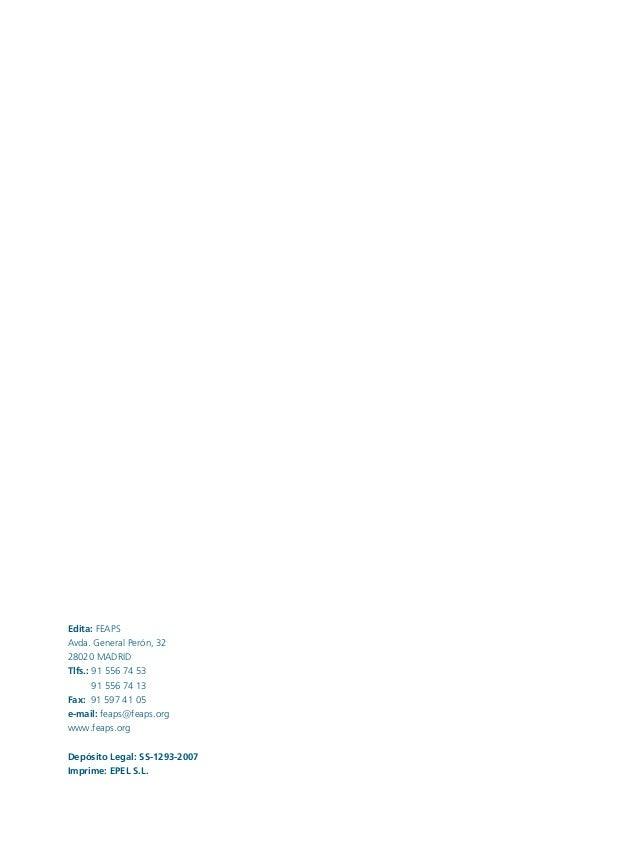 Conductas interior 1.FH11 Tue Nov 13 11:52:30 2007 Página 2 Edita: FEAPS Avda. General Perón, 32 28020 MADRID Tlfs.: 91 55...