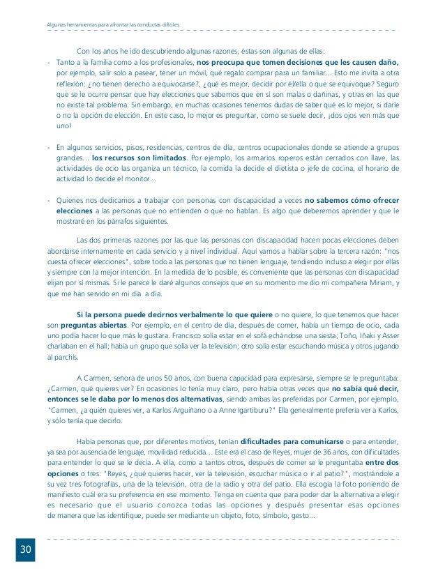 Conductas interior 1.FH11 Tue Nov 13 11:52:30 2007 Página 30 30 Algunas herramientas para afrontar las conductas difíciles...
