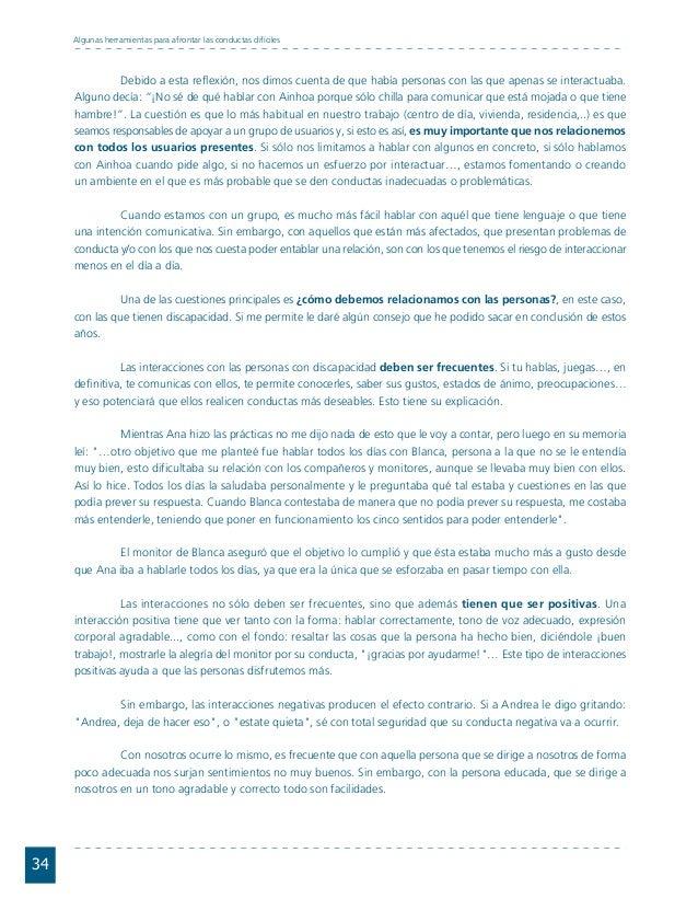 Conductas interior 1.FH11 Tue Nov 13 11:52:30 2007 Página 34 34 Algunas herramientas para afrontar las conductas difíciles...