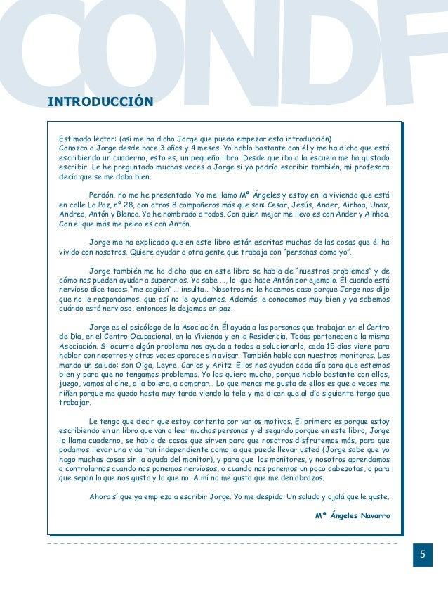 Conductas interior 1.FH11 Tue Nov 13 11:52:30 2007 Página 5 CO FDNEstimado lector: (así me ha dicho Jorge que puedo empeza...