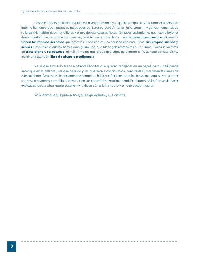 Conductas interior 1.FH11 Tue Nov 13 11:52:30 2007 Página 8 Desde entonces ha llovido bastante a nivel profesional y lo qu...