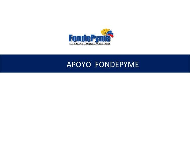 APOYO  FONDEPYME