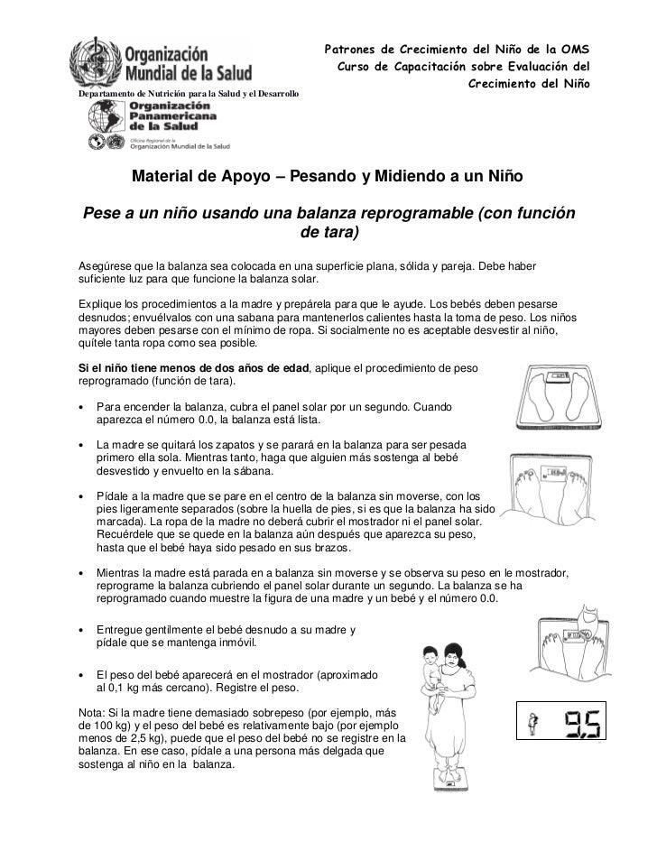 Patrones de Crecimiento del Niño de la OMS                                                            Curso de Capacitació...