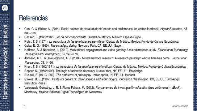 DoctoradoenInnovaciónEducativa Referencias  Can, G. & Walker, A. (2014). Social science doctoral students' needs and pref...