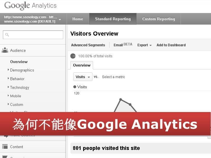 為何不能像Google Analytics                    11