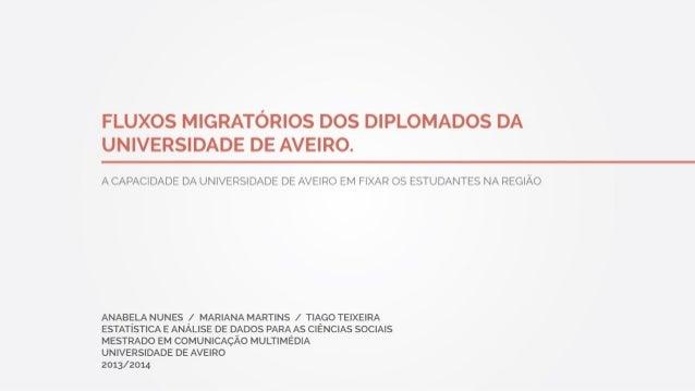 Fluxos Migratórios dos Diplomados da Universidade de Aveiro