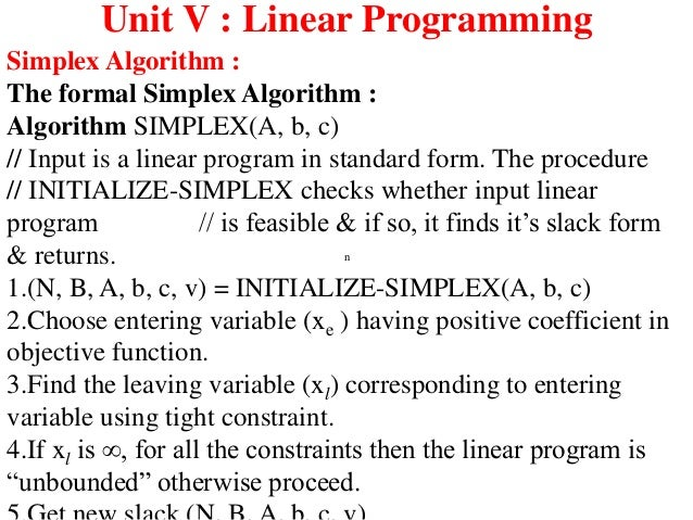 objective function vs constraints in linear programming essay Optimization problem in which the objective and constraints are given as  set of  decision variables a (linear) objective function a set of (linear) constraints   summary of the graphical method draw the constraint boundary line for each  constraint use the origin (or any point not on the line) to determine which side of  the.