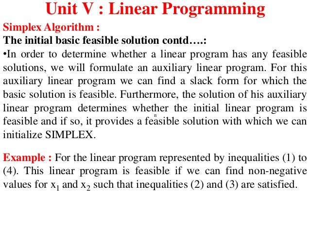 linear programming basic concepts solution Of an or-oriented modeling and solution approach  key concepts in integer  programming  which includes linear programming (taught via solver.