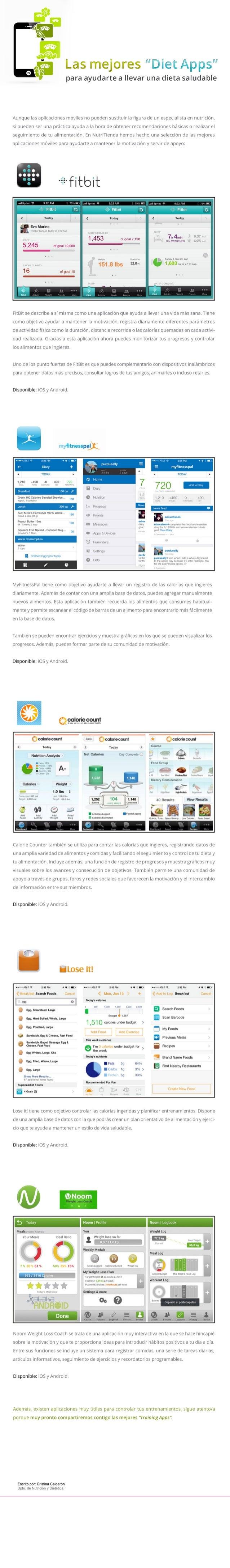 """e #a k  Las mejores """"Diet Apps""""  F¡  3            para ayudarte a llevar una dieta saludable  Aunque las aplicaciones móvi..."""