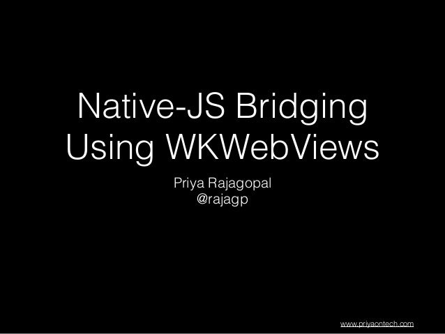 Native-Javascript Bridging Using WKWebViews in iOS8