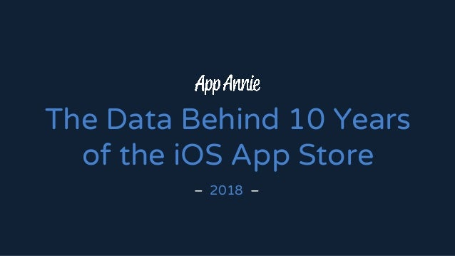 The Data Behind 10 Years of the iOS App Store – 2018 –