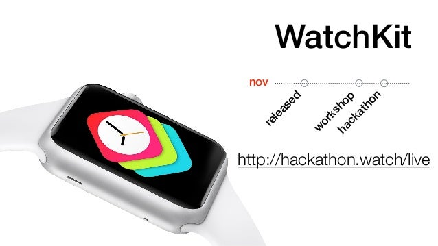 WatchKit  released  workshop  hackathon  nov  http://hackathon.watch/live