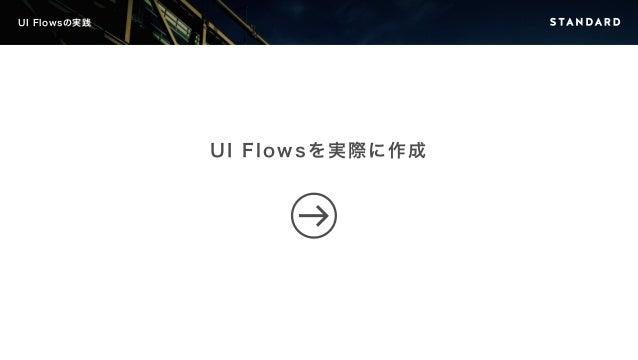 UI Flowsの実践  UI Flowsを実際に作成