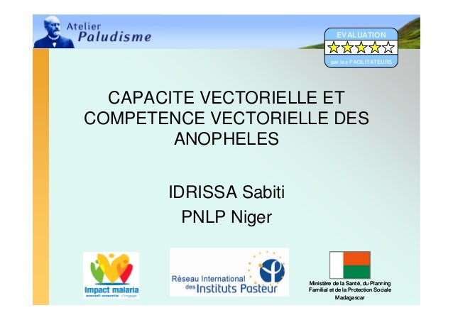EVALUATION                                 par les FACILITATEURS  CAPACITE VECTORIELLE ETCOMPETENCE VECTORIELLE DES       ...